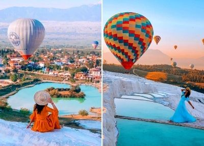 Heißluftballonfahrt in Pamukkale