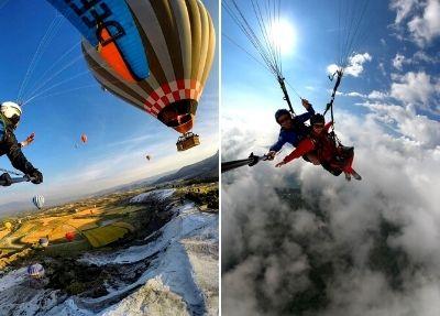 Paragliding Gleitschirmfliegen in Pamukkale 1