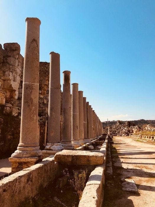 Ausflug Antalya nach Perge Aspendos Side