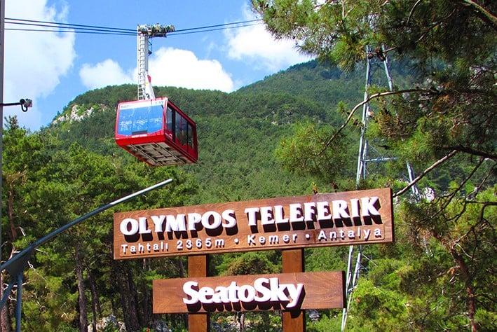 Besuchen Sie den Mount Tahtali mit der Olympos-Seilbahn