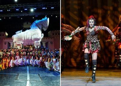 Feuer von Anatolien Troy Show aus Antalya