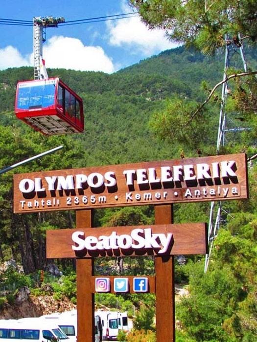 Olympos Teleferik Seilbahn von Belek