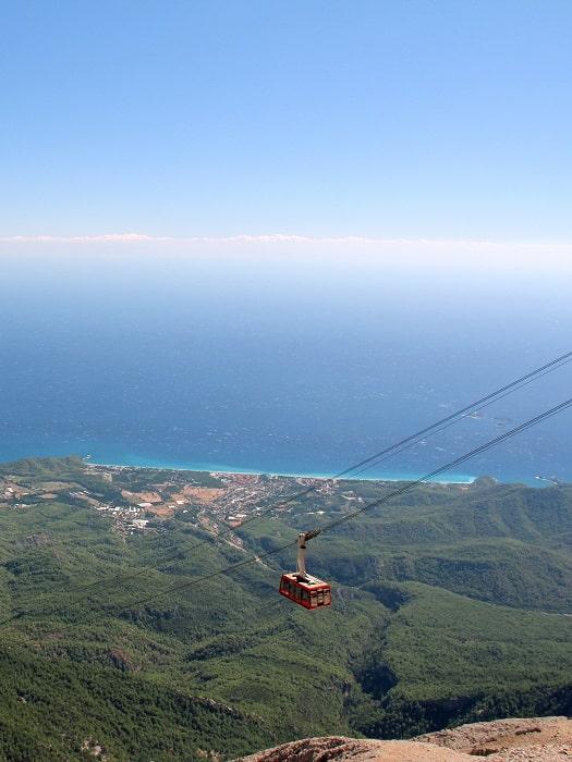 Ausflug zum Olympos Teleferik Seilbahnfahrt von Side