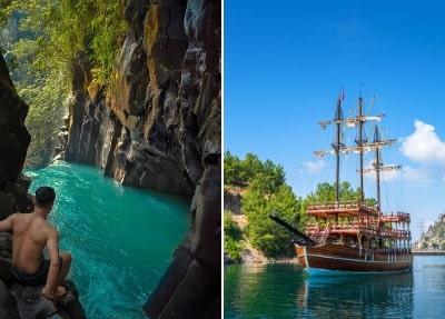 Grünen Canyon Boatsfahrt von Belek