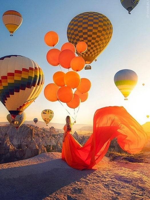 Heißluftballon in Kappadokien von Alanya