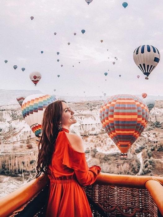 Heißluftballon in Kappadokien von Antalya