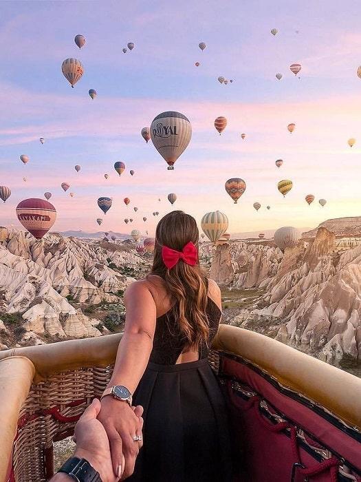 Heißluftballon in Kappadokien von Istanbul