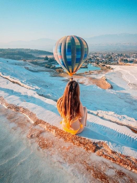 Heißluftballon von Alanya nach Pamukkale