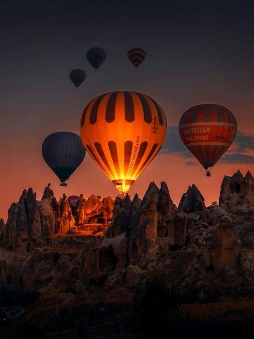 Heißluftballonfahrt in Kappadokien von Belek