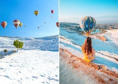 Heißluftballonfahrt in Pamukkale ab Istanbul