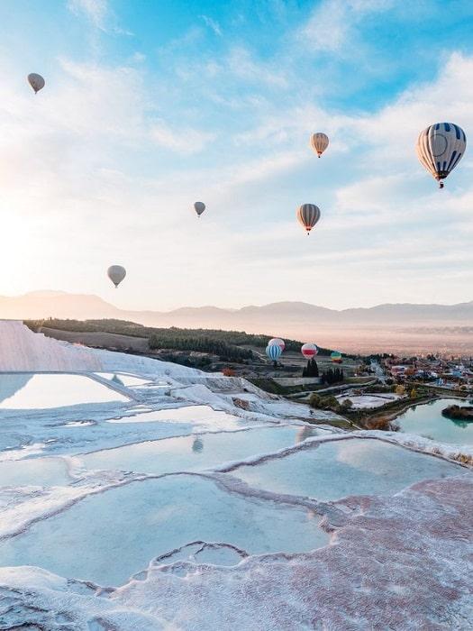 Heißluftballonfahrt in Pamukkale von Antalya